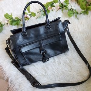 Rebecca Minkoff All Black Large Mac Bag